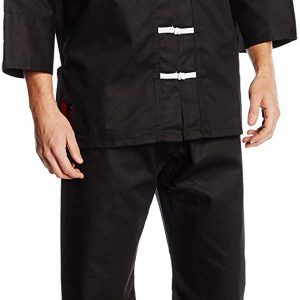 Color Negro DEPICE Traje de Kung-fu Chino